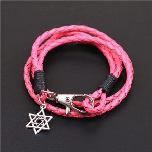 Roze armband met davidster