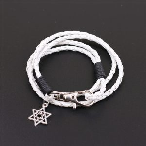 Witte armband met davidster