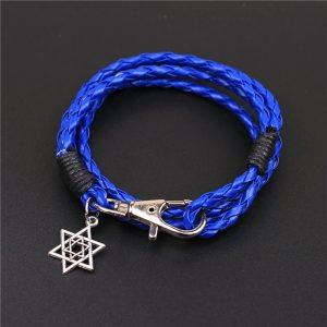 Blauwe armband met davidster