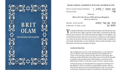 Brit Olam Prayer Book for Noahides